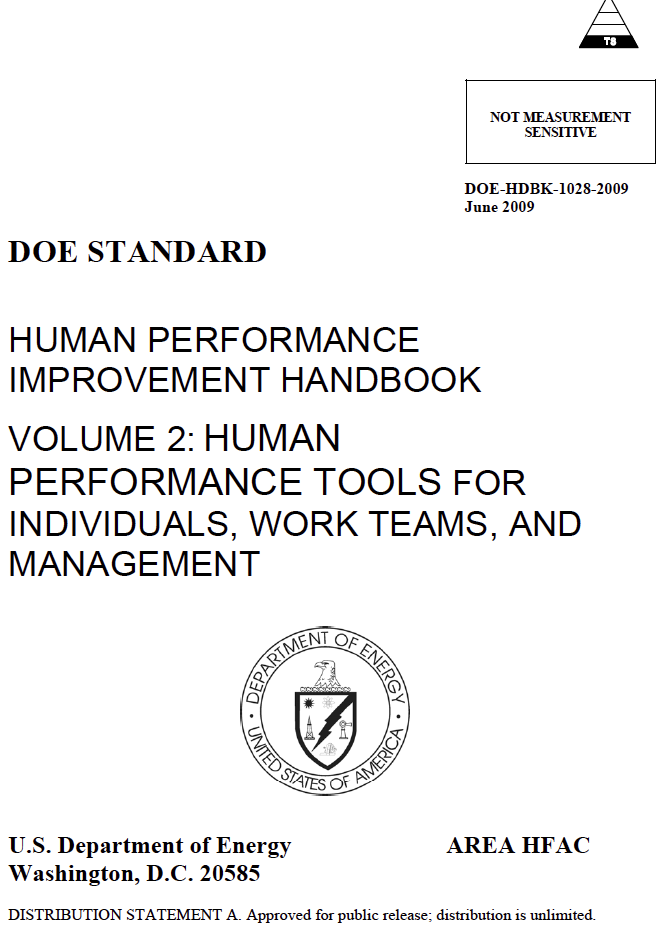 Learn From Accidents: Human Performance Improvement Handbook