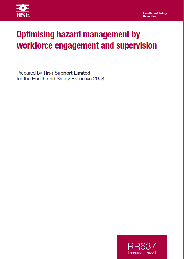 Learn From Accidents: Optimising hazard management by workforce engagement and supervision